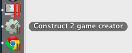 Screen shot of Construct 2 in the OSX dock