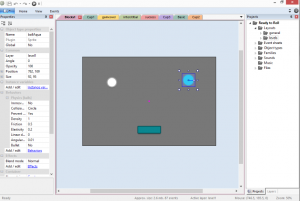 Screen shot of a level being edited in Construct 2